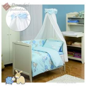 Obliečky do postýlky Sweet mix Blue Farm - 100x135, 40x60