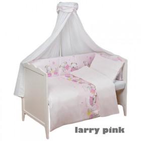 Obliečky do postýlky Larry Pink - 100x135, 40x60