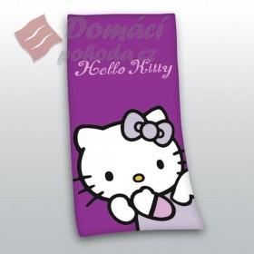 Osuška Hello Kitty fialová, 75x150 cm, 100% bavlna