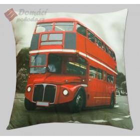 Polštářek London Bus - 40x40 cm s výplní