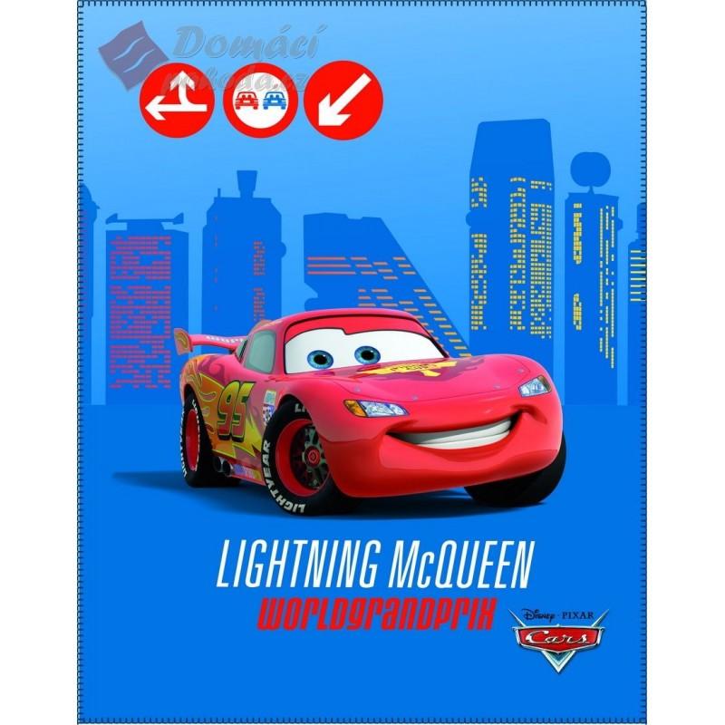 Fleecová deka Cars Grand Prix - 110x140