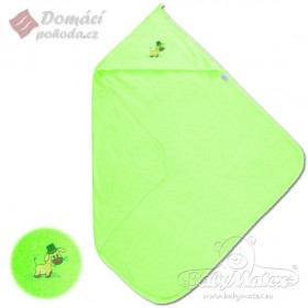 Dětská froté osuška s kapucí MAXI 100x100 cm, zelená
