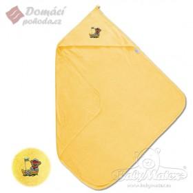 Dětská froté osuška s kapucí MAXI 100x100 cm, žlutá