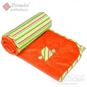 Dětská deka LOVE oranžová, 75x100cm