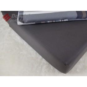 Prostěradlo saténové 180x200 s gumou - tmavě šedé