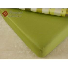 Prostěradlo saténové 90x200 s gumou - zelené