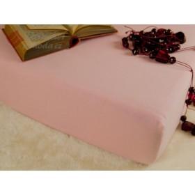 Jerseyové prostěradlo s vysokou gramáží 185 g/m2, 120x200 - světle růžové