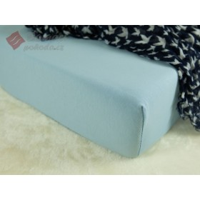 Jerseyové prostěradlo s vysokou gramáží 185 g/m2, 120x200 - světle modré