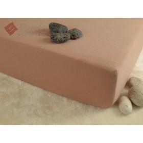 Jerseyové prostěradlo s vysokou gramáží 185 g/m2, 140x200 - béžové