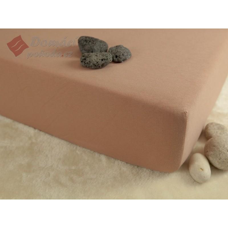 Jerseyové prostěradlo s vysokou gramáží 190 g/m2, rozměr 180x200, béžové