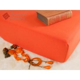 Jerseyové prostěradlo s vysokou gramáží 185 g/m2, 220x200 terakota