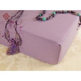 Jerseyové prostěradlo s vysokou gramáží 185 g/m2, 90x200 - fialové