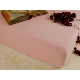 Jerseyové prostěradlo s vysokou gramáží 185 g/m2, rozměr 90x200, světle růžové