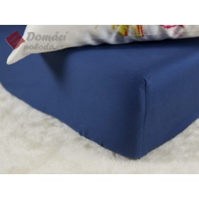 Prostěradlo saténové 180x200 s gumou - tmavě modré