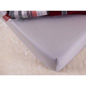 Prostěradlo saténové 120x200 s gumou - světle šedé