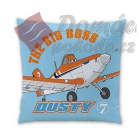 Polštářek Planes Dusty Champion 40x40 cm - 100% bavlna