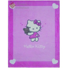 Fleece Cuddle deka Hello Kitty Alice - 75x100 cm, vyšší gramáž