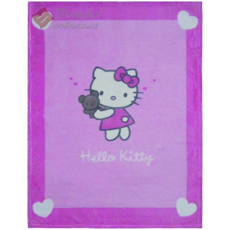 Fleece Cuddle deka Hello Kitty Alice - 75x100 cm, vyšší gramáž