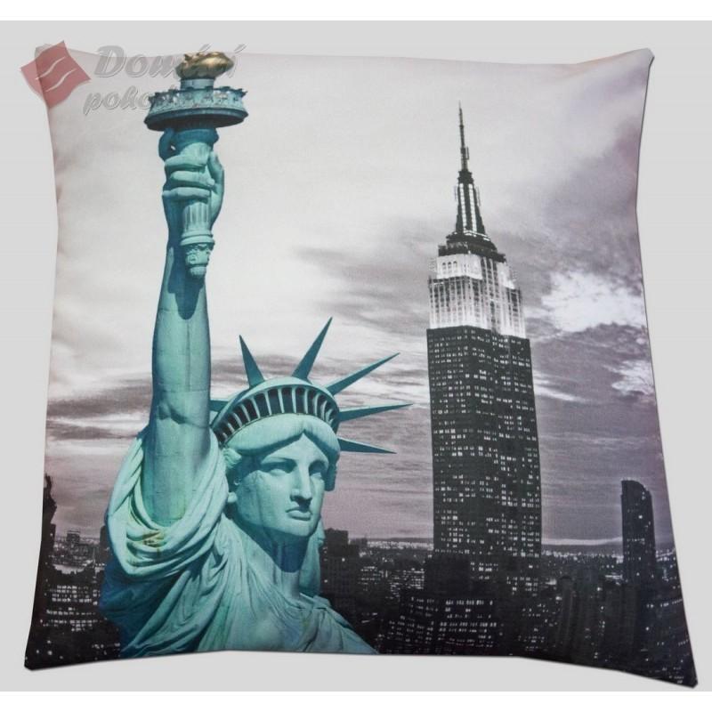 Polštářek N.Y. Liberty - 40x40 cm s výplní