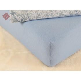 Flanelové prostěradlo 140x200 - modré