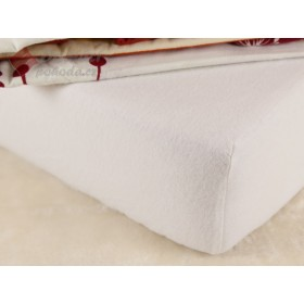 Flanelové prostěradlo 220x200 - bílé