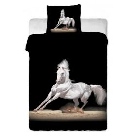 Obliečky Kůň bílý - 140x200, 70x90, 100% bavlna