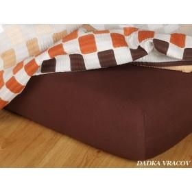 Jerseyové prostěradlo s vysokou gramáží 185 g/m2, 220x200 čokoládově hnědé