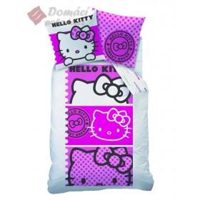 Povlečení Hello Kitty Eva Pink  - 140x200, 63x63 cm