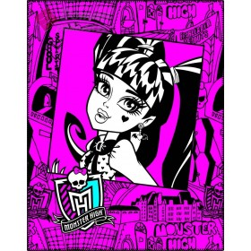 Fleecová deka Monster High Pink Frame - 110x140 cm