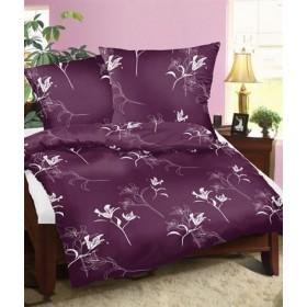 Povlečení Tamara fialová - 140x200, 70x90, 100% bavlna