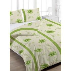Prodloužené povlečení Anežka zelená - 140x220, 70x90, 100% bavlna