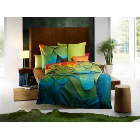Makosaténové obliečky Exotique smaragd - 140x200, 70x90