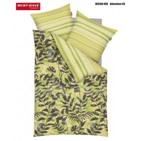 Makosaténové obliečky Adventure zelené - 140x200, 70x90