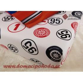 Prostěradlo Cars Fastest - 90x190/200 cm, 100% bavlna