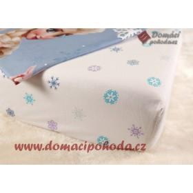 Prostěradlo Princess Frozen - 90x190/200 cm, 100% bavlna