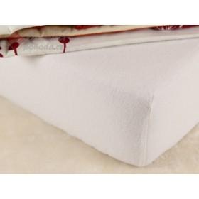 Flanelové prostěradlo do postýlky 60x120 - bílé