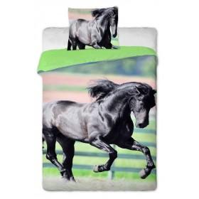 Povlečení Černý kůň - 140x200, 70x90, 100% bavlna