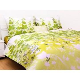 Obliečky Sarmasik zelený 140x200, 70x90 - bavlněný satén