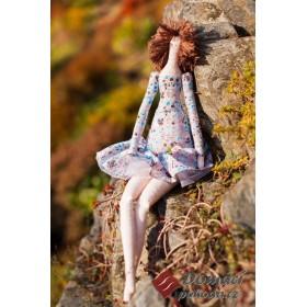 Dekorační panenka Barberia - 45 cm, RUČNÍ PRÁCE