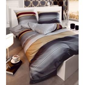 Flanelové obliečky Dip Dye šedé 140x200, 70x90