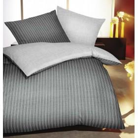Flanelové obliečky Eternity šedé 140x200, 70x90