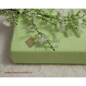Nepropustné a prodyšné froté prostěradlo s polyuretanem 100x200 - zelené