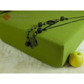 Jerseyové prostěradlo s vysokou gramáží 185 g/m2, rozměr 90x220 PRODLOUŽENÁ DÉLKA, olivové