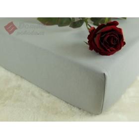 Jerseyové prostěradlo s vysokou gramáží 185 g/m2, rozměr 90x220 PRODLOUŽENÁ DÉLKA, šedé