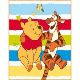 Fleecová deka Medvídek Pú Happiness, 110x140 cm
