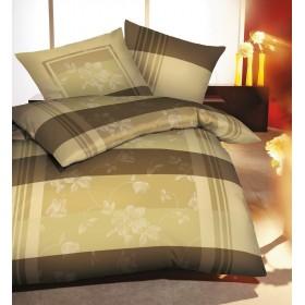 Flanelové obliečky Harmony olivové 140x200, 70x90