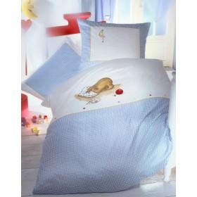 Bavlněné obliečky Medvídě modré, 140x200, 70x90