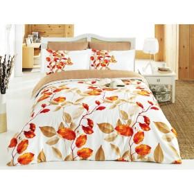 Povlečení Fadeks oranžový 140x200, 70x90 - bavlněný satén