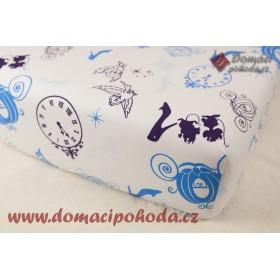 Prostěradlo Popelka - 90x190/200 cm, 100% bavlna