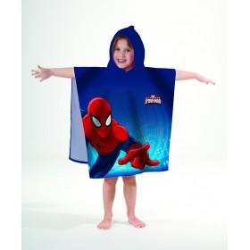 Pončo Spiderman 60x120 cm, 100% bavlna